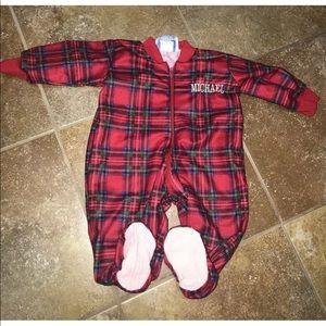 Baby Boy 0-3 Months Pajamas Christmas Plaid